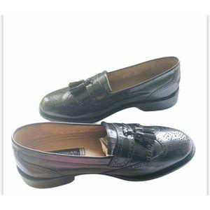 Bostonian Mens Black Leather Eaton Loafer Sz 8M